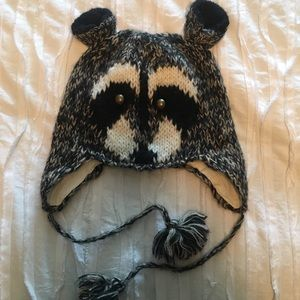 Urban Outfitter Raccoon winter hat